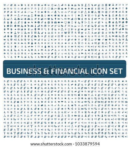 Business and financial icon design