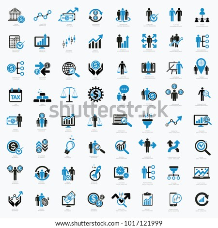 Business and financial icon set design