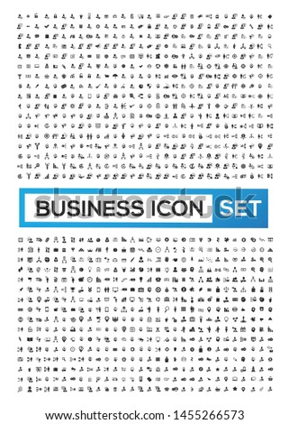 Business and financial vector icon set