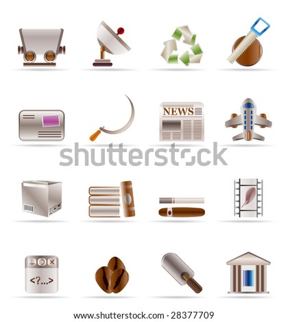 Business and industry icons - Vector Icon set 2