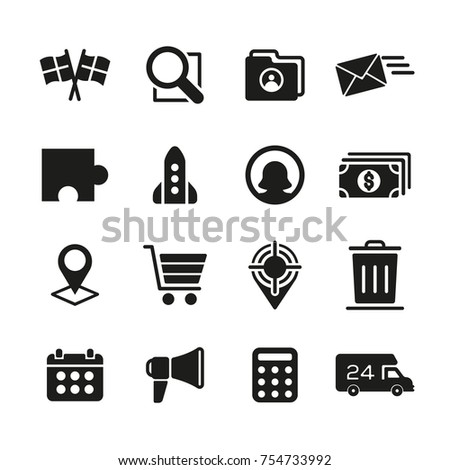 Business and Management Icon Set