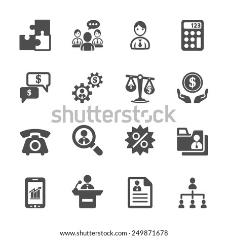 business and management icon set 3, vector eps10.
