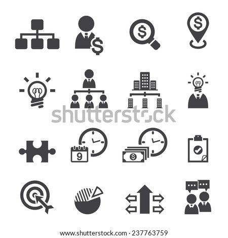 Business and management icons  Foto d'archivio ©