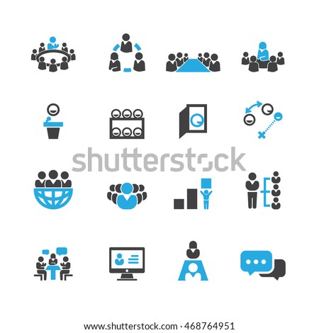 Business and Meeting icons,Vector