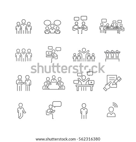 Business and meeting set icons,Vector #562316380