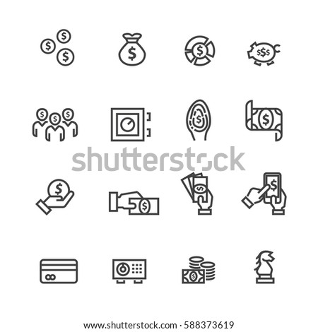 Business and money set icons,Vector