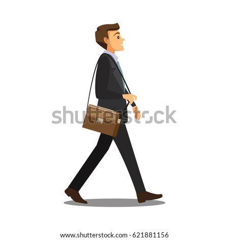 business and office concept -businessman,Vector illustration cartoon character
