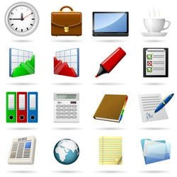 Business and office icons set. EPS10 file.