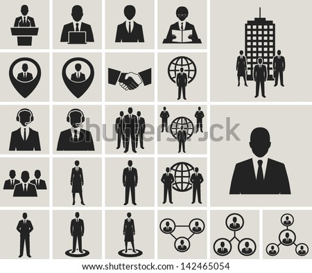 Human Resources Vector Resources Vector Icons Set