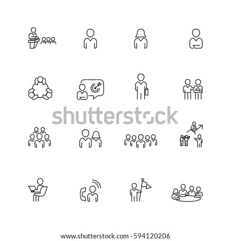 Business and office set icons,Vector