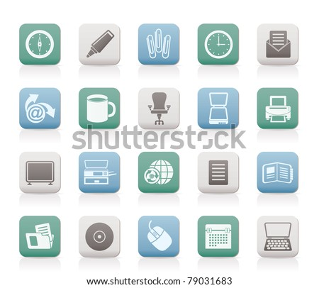 Business and Office tools icons - vector icon set 2