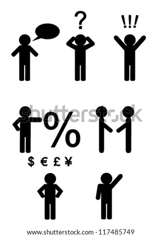 business and people, different situations, vector illustration
