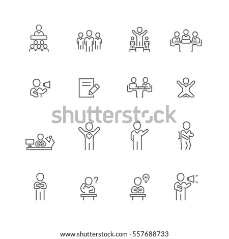 Business and people set icons,Vector #557688733
