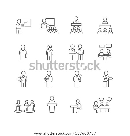 Business and people set icons,Vector