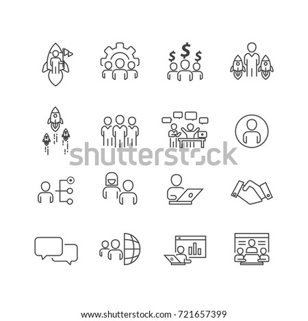 Business and Person icons set,Vector