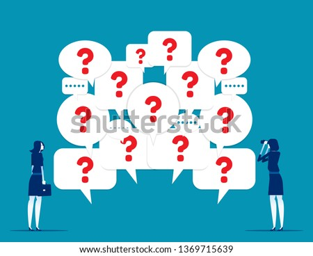 Business and question mark speech bubble. Concept business vector illustration, Communication. Foto stock ©