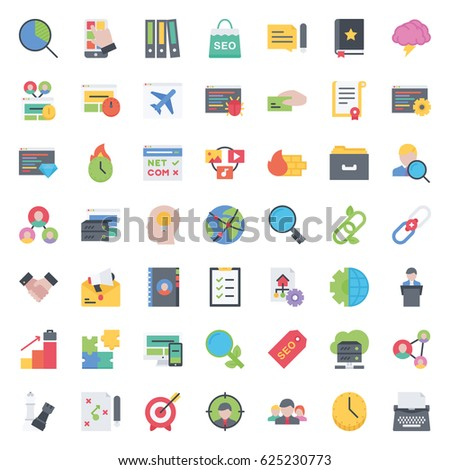 business and seo icons