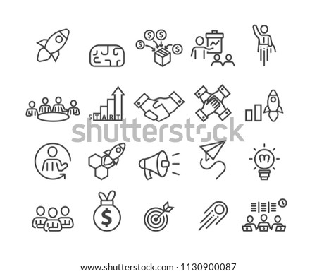 Business and Startup icons set,vector