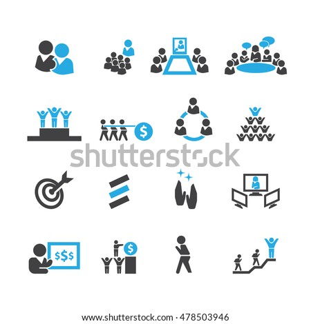 Business and teamwork icons,Vector
