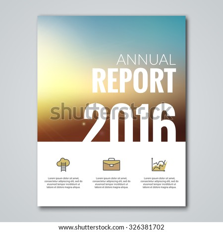 Business annual report book cover brochure flyer poster 2016 typography design on abstract background