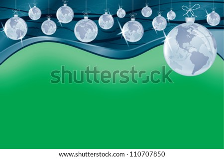 Business around the globe decorations background. - stock vector