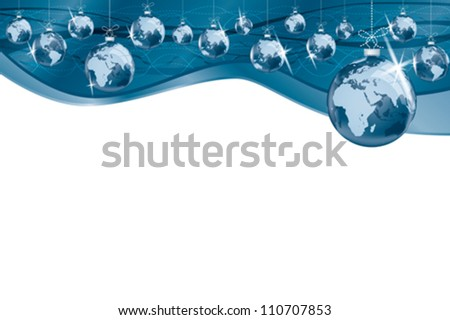 Business around the globe decorations background.