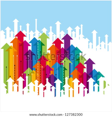business arrow concept - stock vector