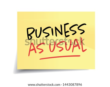 Business as usual on yellow sticks Foto d'archivio ©