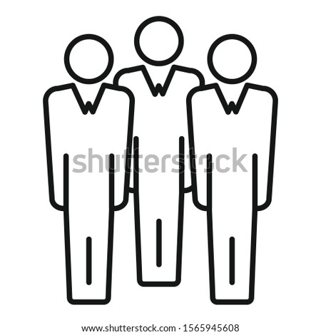 Business audience icon. Outline business audience vector icon for web design isolated on white background