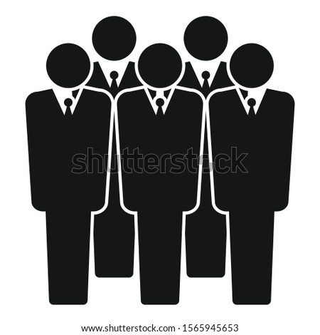 Business audience icon. Simple illustration of business audience vector icon for web design isolated on white background