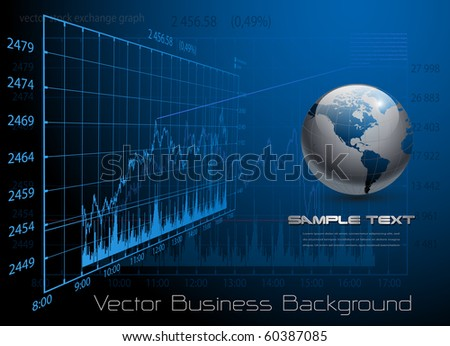 business background blue, vector.