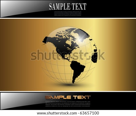 Business background elegant glossy gold, vector.