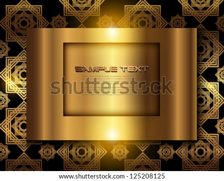 Business background, elegant gold, vector. - stock vector