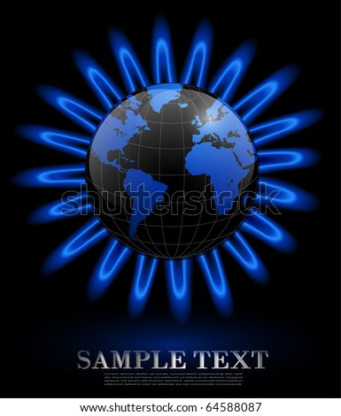 Business background gas energy concept, vector.