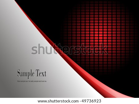 Business background red and grey, vector illustration.