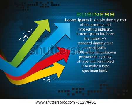 business background with colorful arrow, illustration