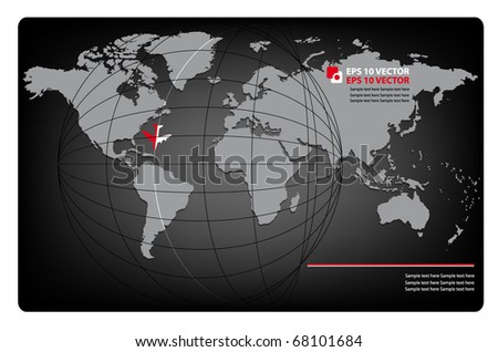 business background with map of