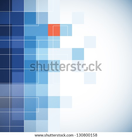 Business background with mosaic effect