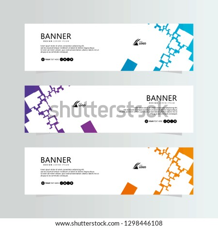 Business Banner background.modern template design.vector illustration #1298446108