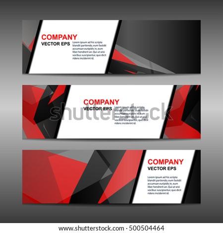Business Banner Template Background, vector illustration #500504464