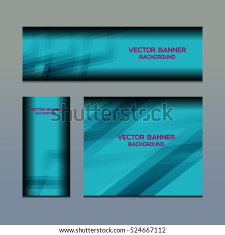 Business Banner Template Background, vector illustration #524667112