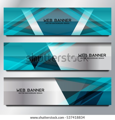 Business Banner Template Background, vector illustration #537418834