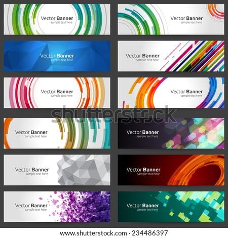 Royalty free business banners set for website 234486433 for Best modern lighting websites
