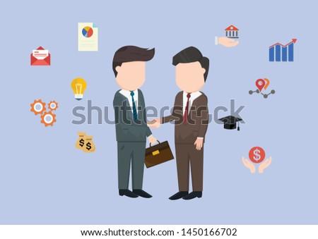 Business between businessmen and businessmen