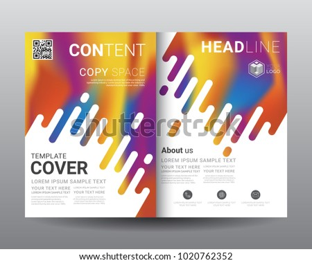 creative bi fold brochure magazine page design vector template