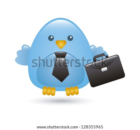 business bird over white background. vector illustration
