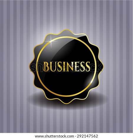 Business black emblem