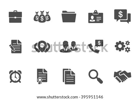 business black icons