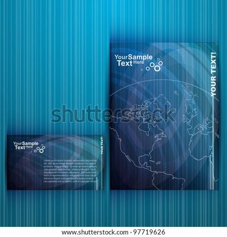 Business Blue Flyer Design, vector