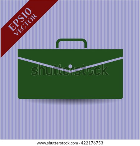 business briefcase icon vector symbol flat eps jpg